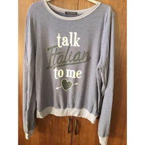 Wildfox Talk Italian To Me Jumper Pullover Size M